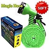 Garden Hose High Pressure Flexible Hose 50ft With Spray Gun Magic Water Hose-Zomoza
