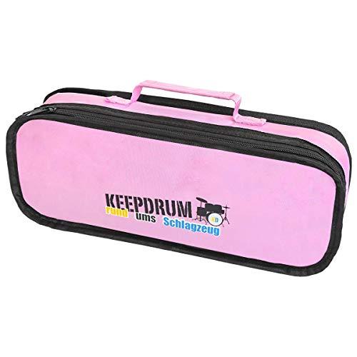 Keepdrum Custodia imbottita per Glockenspiel Sonor colore rosa