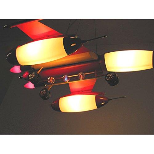 Die Erntesaison Rote Kind-Flugzeug-Lichter-Jungen-Schlafzimmer-Lichter -E14 Lampe * 5 - 2