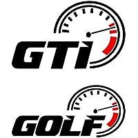 Autodomy Pegatinas Volkswagen Golf GTI Pack 2 Unidades para Coche (Negro)