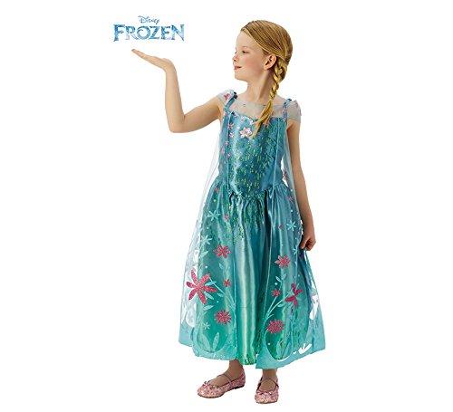 Disney Princesas Disfraz infantil, Color turquesa, L (Rubie's 610907-L)