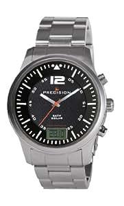 Precision Herren Armbanduhr Analog Digital Edelstahl silber PREW1116