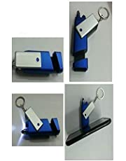 VAGMI All in one Torch Stylus Pen,Mobile Stand Clean Duster Keychain(Multi)