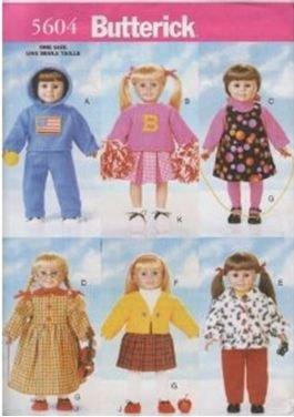 Butterick 5604 - Cartamodello per Vestiti per Bambole