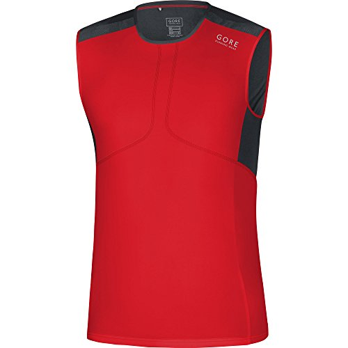 Gore Running Wear Imairt Air Tank Top, Uomo, Rosso (Red/Black),