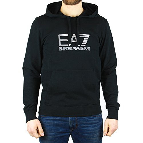 Sweatshirt EA7 EMPORIO ARMANI Herren 3YPM85 PJ05ZE1200 Schwarz - XXL (Hoodie Armani)