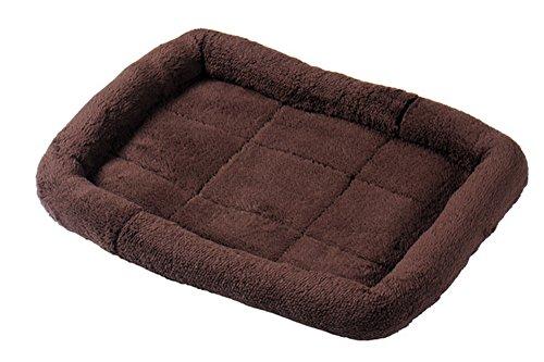 Tnkinuyi Camas para Perros - Estera de Cama del Perro para el sofá Lavable de la Mascota de la Máquina Suave 2 Tamaños 5 Colores (L, café)