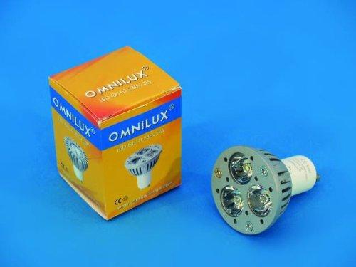 Omnilux LED Gu-10 230V 3X1W Gelb Gelbe 10
