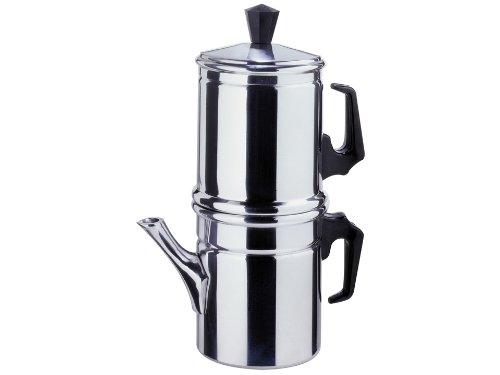 Zuiver Ilsa Napoletana Cafetera, Aluminio, Plata, para 6 Tazas