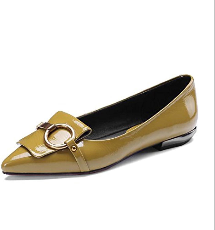 Las señoras de la manera Flats Womens Vintage Charol Zapatos solos Oficina de trabajo clásico Zapatos cómodos...