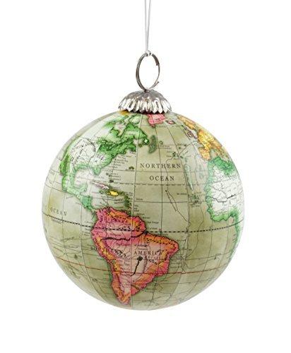 Old World Map Globe Hänger Weihnachten Baum Ornament
