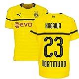2018-19 Borussia Dortmund Home UCL Football Soccer T-Shirt Trikot (Shinji Kagawa 23)