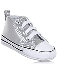 CONVERSE 855122C FIRST STAR SILVER SNEAKERS Bambina SILVER 19