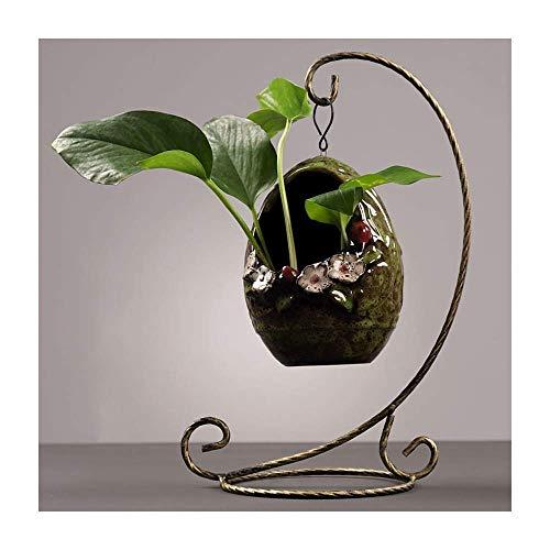 Dekoration FJH Kreative Skulpturen Blumenvase Wasserpflanze Blumentopf Blumengesteck Keramik Tisch