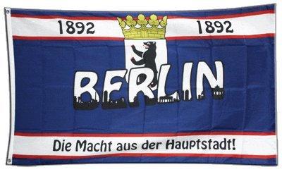 Fahne / Flagge Berlin 1892 Die Macht aus der Hauptstadt + gratis Sticker, Flaggenfritze® - Hauptstadt Flagge