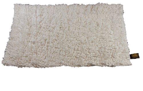 Gözze Teppich, 100% Baumwolle, Wollgarn-Hochfloroptik, 70 x 120 cm, Natur, 1010-0310-72 (Natur Teppich)