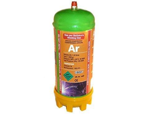 Preisvergleich Produktbild Argon Einwegzylinder 1, 8 Liter 84 Bar UN 1006 Einwegkartusche M10 Gewinde