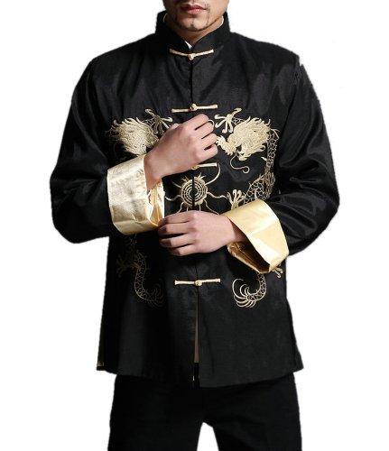 Tradizionale giacca dragone cinese soprabito kung fu arti marziali in seta 107