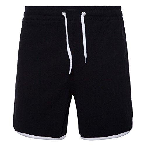 Preisvergleich Produktbild MOIKA Herren Sportshorts,  Sporthose Kurz Herren Hochwertig Bequem Sport Shorts Jogginghose Kurz Trainingsshorts Bequeme Shorts für Laufsport Outdoor Sport Jogging Workout(S, Schwarz)