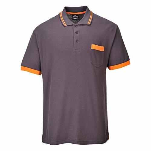 Portwest Texo tx20grrl Kontrast-Poloshirt, Gr. L, TX20GRRXXL Grau - Dunkelgrau
