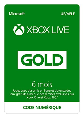 Abonnement Xbox Live Gold 6 mois