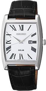 Reloj Seiko SUT891P1 de cuarzo para mujer con correa de piel, color negro de Seiko