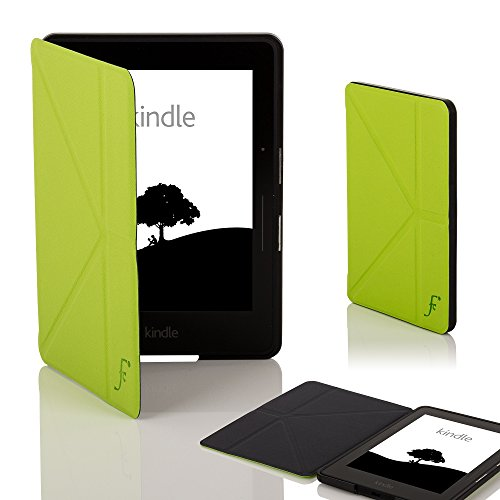 azon Kindle Voyage Origami Hülle Schutzhülle Tasche Bumper Folio Smart Case Cover Stand - Ultra Dünn und Leicht mit Rundum-Geräteschutz und intelligente Auto Schlaf / Wach Funktion (GRÜN) ()