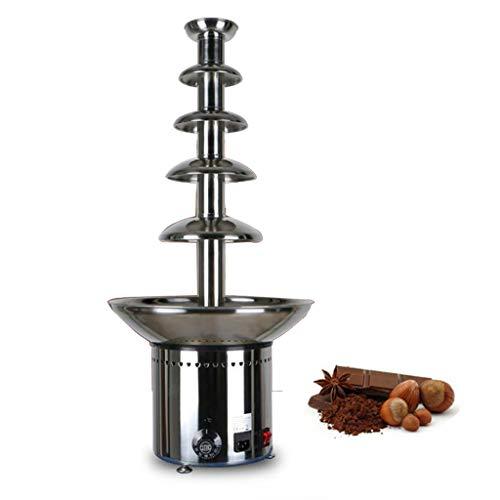 Partiy Handelsschokoladenbrunnen 4/5 Schicht-elektrisches Edelstahl-Multifunktionsschmelzgerät für Hochzeitsfeiern, kompaktes Tischplatten-Design