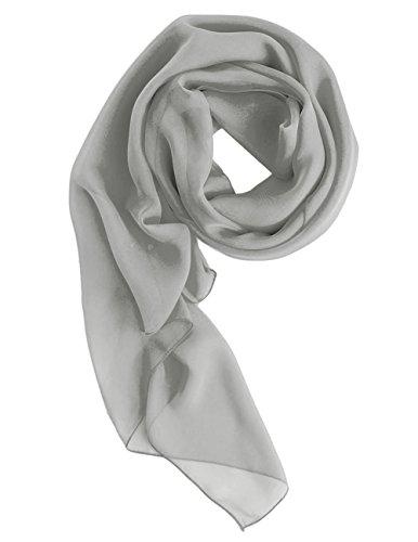 Dresstells Chiffon Schal Stola für Abendkleider in verschiedenen Farben Silver 180cmX72cm (Silber-grau Kleid)