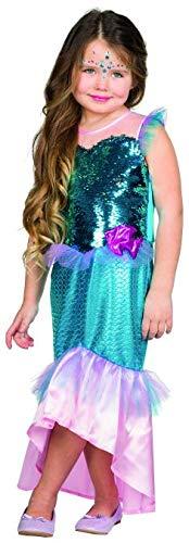 Rubies Kinder Kostüm Nixe Mädchen Fasching Karneval Halloween Verkleidung: Größe: 116