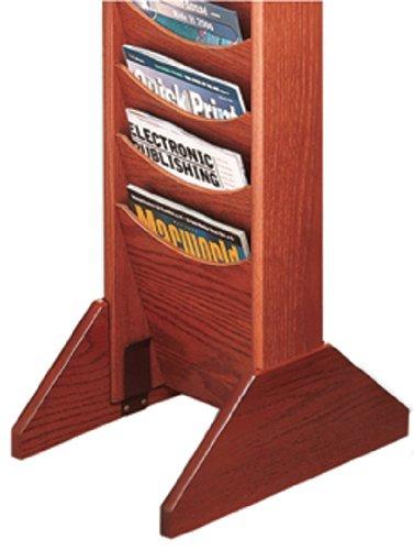 Buddy Produkte Solide Eiche Single Basis für Holz Literatur Display Racks, 35,6x 14,6x 1,9cm, Medium Cherry (0617-17)