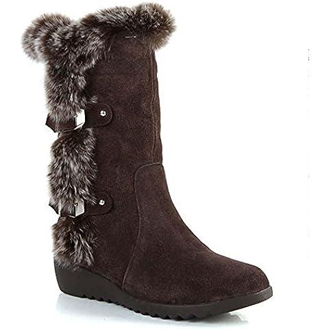 SHIXR Onorevoli nuovo inverno scrub coniglio capelli neve stivali-in-tubo e stivali di velluto , brown , 37