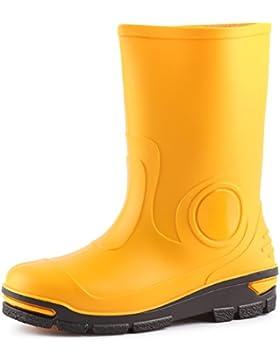 Ladeheid Botas de Agua Goma Zapatos de Seguridad Unisex Niños LARB012