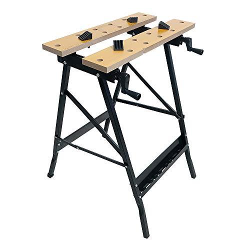 HENGMEI 56X62X78cm Spanntisch Werkbank Klappbar mit Aufgedruckte Winkelangaben Arbeitstisch Werktisch mit Spannbacken