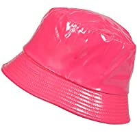 TOUTACOO, Waterproof Wax Style Bucket Rain Hat Pink