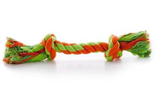 Hundespielzeug Spieltau Baumwolle Baumwollknoten Hunde Zahnpflege Zerrseil (Grösse 2.) (2 Knoten Seil)