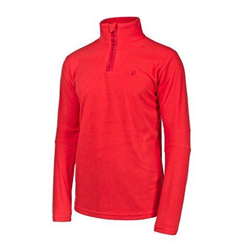 Protest Perfect 14 1/4 Zip Top - Funzionale Maglia In Pile - Tutti I Colori - cruento red (726), XL