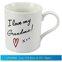 """I Love My Grandma"" White Novelty Sentimental Mug with Presentation Box"
