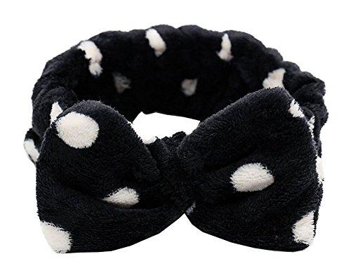 Fashion Lovely Soft Bandeau de douche Black Bowknot
