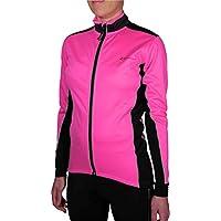 More Mile Piu Miglia Bari Pink Soft Shell-Giacca da ciclismo,