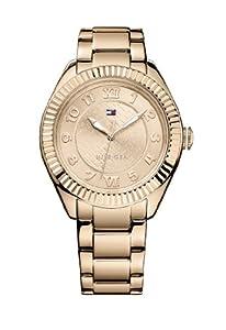 Tommy Hilfiger Watches 1781344 de cuarzo para mujer, correa de acero inoxidable chapado color oro rosa