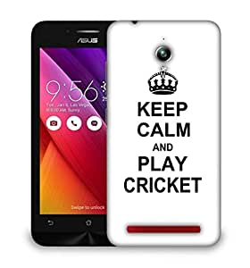 Snoogg Keep Calm and Play Cricket Designer Protective Back Case Cover For Asus Zenfone 6