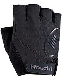 Roeckl Baia guantes de ciclo del verano negro corto del dedo, handschuhgröße:9