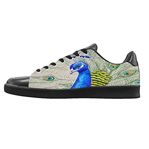 Dalliy sch?ne pfau Men's Canvas shoes Schuhe Lace-up High-top Footwear Sneakers A