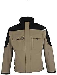 BESTWORK Softshell Jacke khaki/schwarz Gr. L