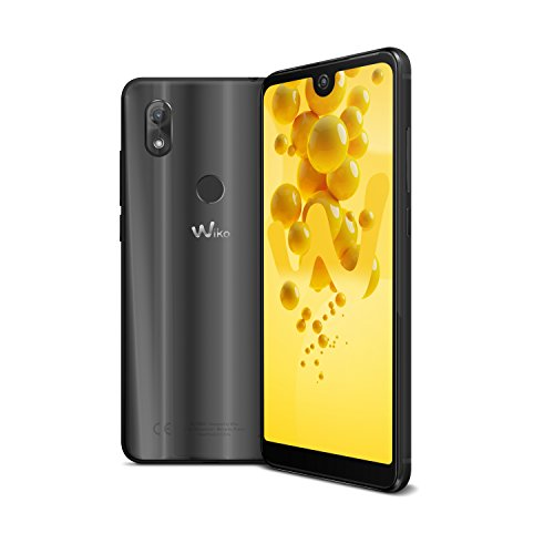 Wiko View 2 Smartphone (15,2 cm (6 Zoll) Bildschirm, 32GB interner Speicher, Android 8 Oreo) anthrazit