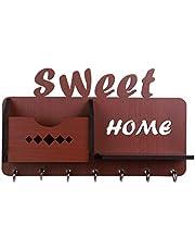 Sehaz Artworks Maison-Home-BR-KeyHolder Wooden Key Holder (7 Hooks)