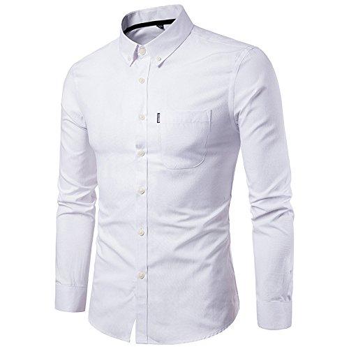 OPALLEY Herren Hemd Regular Fit/Slim Fit Business Hemd Kontrastfarbe Langarmhemd für Männer