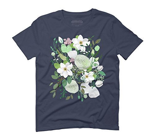 Romantic Garden Men's Graphic T-Shirt - Design By Humans Navy