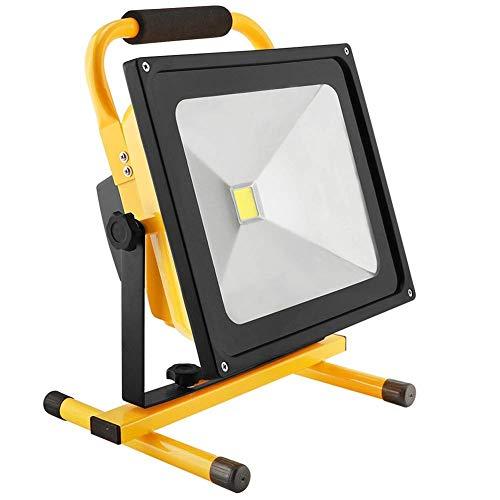 Wsxxn 8 Hr 50W 4000LM tragbare wiederaufladbare kabellose LED-Arbeitsleuchte FloodLight IP65 Wasserdichte Notlicht-Sicherheitsleuchten Eingebaute Li-Ion-Batterien mit Ständer für das Autofahren Campin -